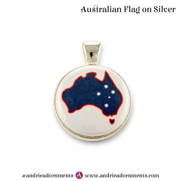 Silver Australian Flag - Australia Day 2018 - Andrie Adornments