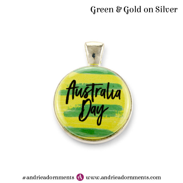 Silver Green & Gold - Australia Day 2018 - Andrie Adornments