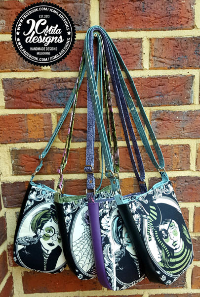 Four stunning Mini Shades Pouches - Andrie Designs