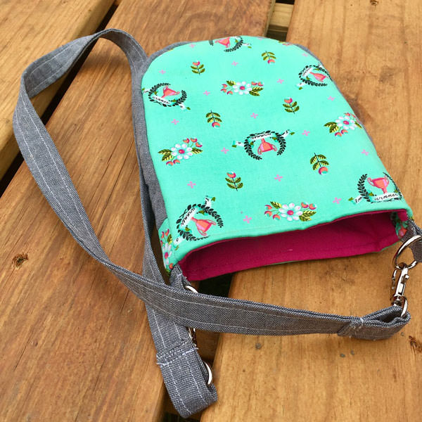 Loving this mint and grey Mini Shades Pouch - Andrie Designs