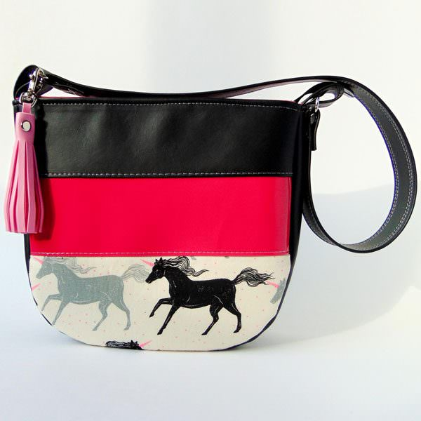 Bright pink and horses! Love this Summertime Sling! - Andrie Designs