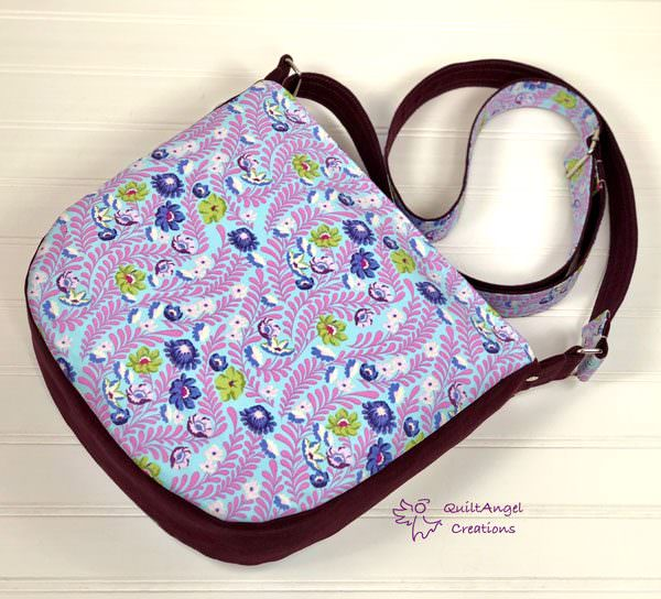 Back of the floral and embroidered Summertime Sling - Andrie Designs