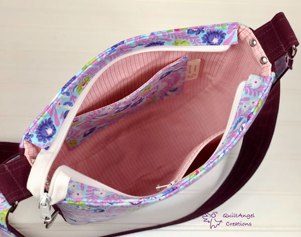 Inside the floral and embroidered Summertime Sling - Andrie Designs