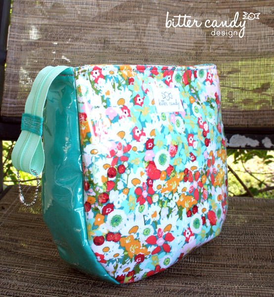Back of the floral with tassels make up bag! Summertime Sling - Andrie Designs