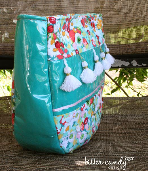Floral with tassels make up bag! Summertime Sling - Andrie Designs