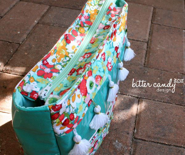 Lovely floral top zipper - Summertime Sling - Andrie Designs