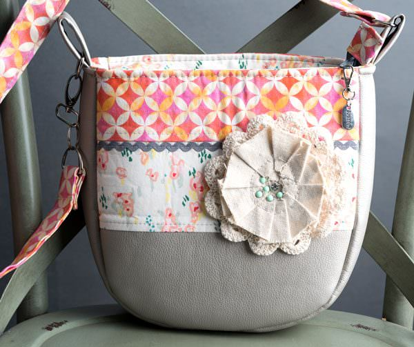 Check out this stunning floral and vinyl Summertime Sling! - Andrie Designs