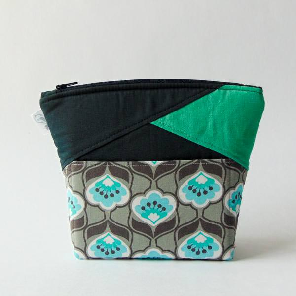 Small Clutch -Stand Up Clutch Gets Zipped - Andrie Designs