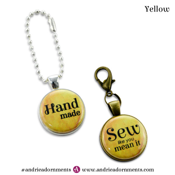 Yellow on Silver and Antique Brass - Andrie Adornments