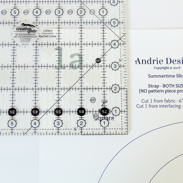 Check that test square - Tips for Better Bag Making - Andrie Designs