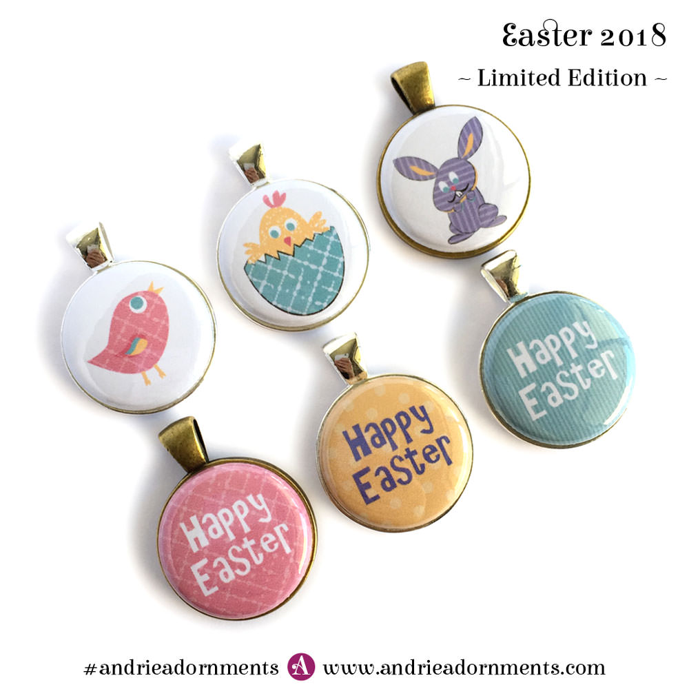 All 6 designs - Easter 2018 - Limited Edition - Andrie Adornments