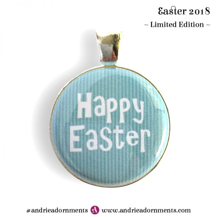 Text on blue - Easter 2018 - Limited Edition - Andrie Adornments