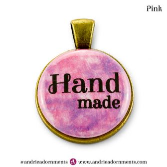 Pink on Antique Brass - Andrie Adornments