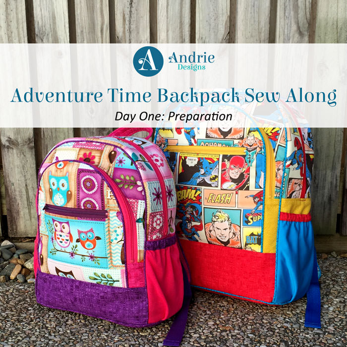 Adventure Time Backpack Sew Along - Andrie Designs