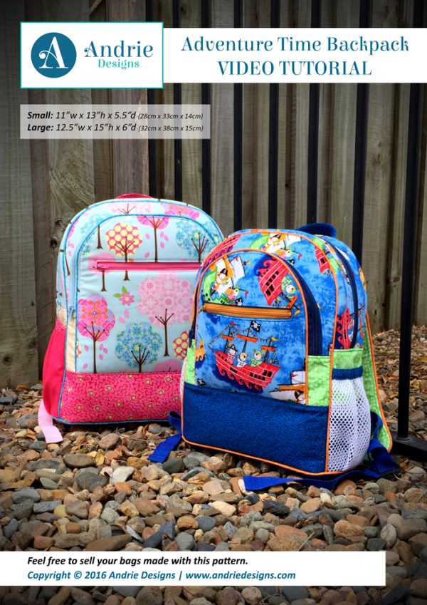 Adventure Time Backpack Video Tutorial - Andrie Designs