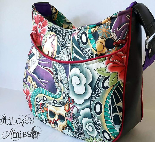 Meet the Maker - Stitches Amiss - Roll with it Tote Bag