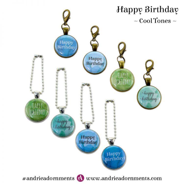 Cool Tones Set - Happy Birthday - Andrie Adornments