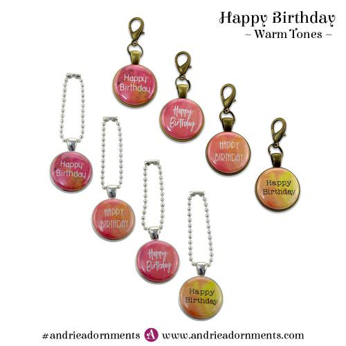 Warm Tones Set - Happy Birthday - Andrie Adornments