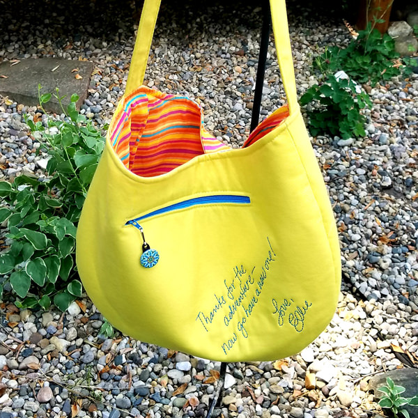 Back view of the Up movie-inspired S & S Tote - Andrie Designs