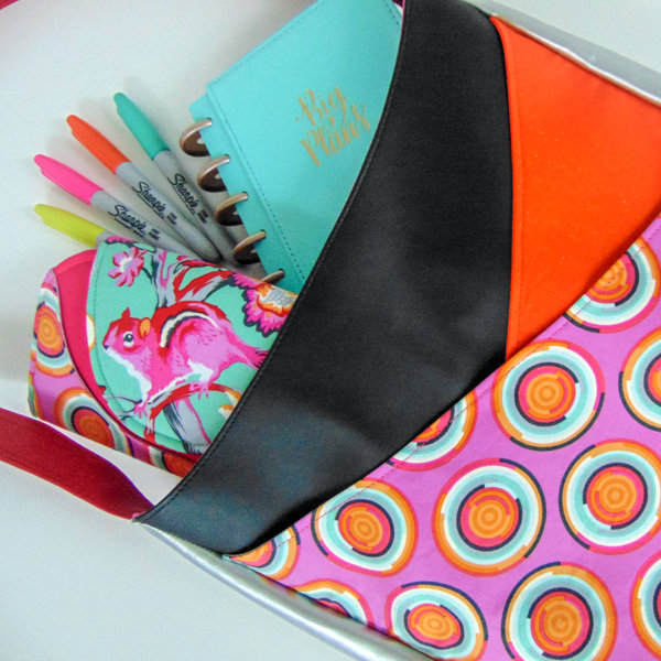 Carry books, your wallet and so much more in this bright and funky S & S Tote - Andrie Designs