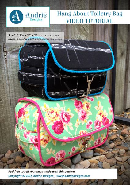 Hang About Toiletry Bag - Video Tutorial - Andrie Designs