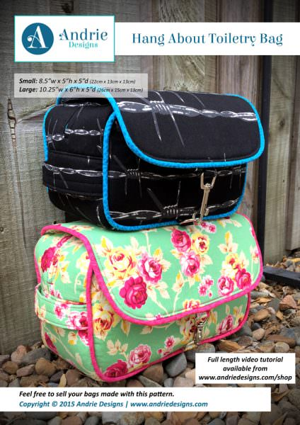 Andrie Designs - Hang About Toiletry Bag