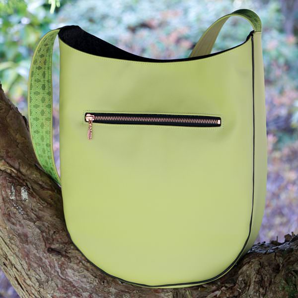 Back view of the citrus S & S Tote - Andrie Designs