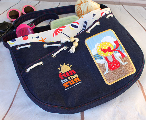 It's off to the beach we go! S & S Tote - Andrie Designs