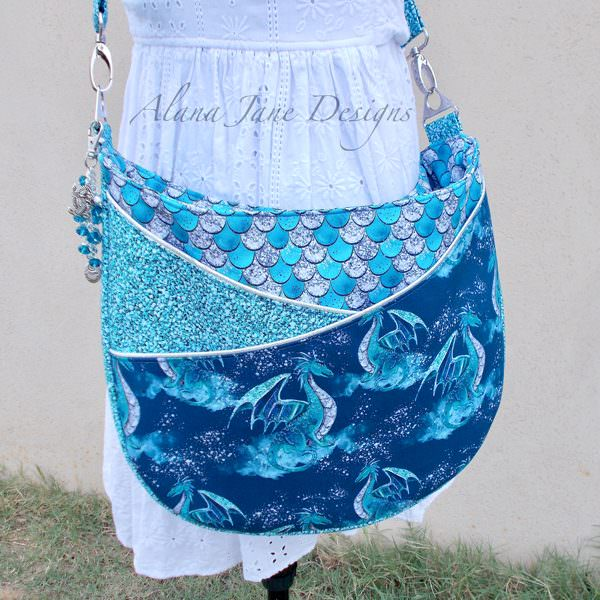 Dragons and scales for this S & S Tote - Andrie Designs