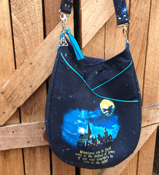 Slouchy shot of the Harry Potter-themed S & S Tote - Andrie Designs