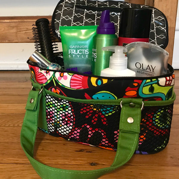 Loaded and ready to use! A sugar skulls Bree's Box Toiletry Caddy - Andrie Designs
