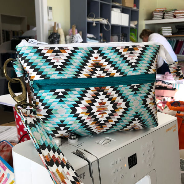 Aztec and brass back - Gather Me Up Clutch - Andrie Designs