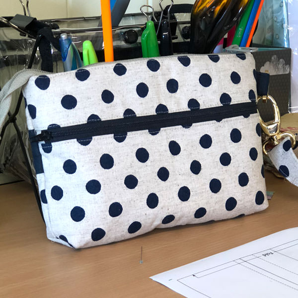 Spotty linen back - Gather Me Up Clutch - Andrie Designs