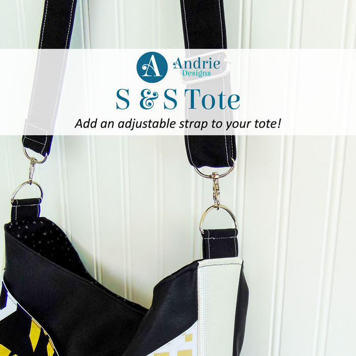 S and S Tote - Adjustable Strap - Andrie Designs