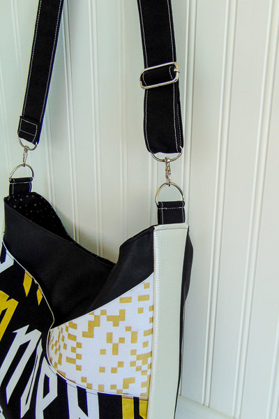 Side Stitching - S and S Tote - Adjustable Strap - Andrie Designs