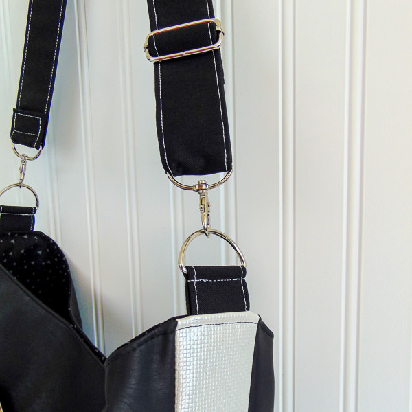 Strap up close - S and S Tote - Adjustable Strap - Andrie Designs