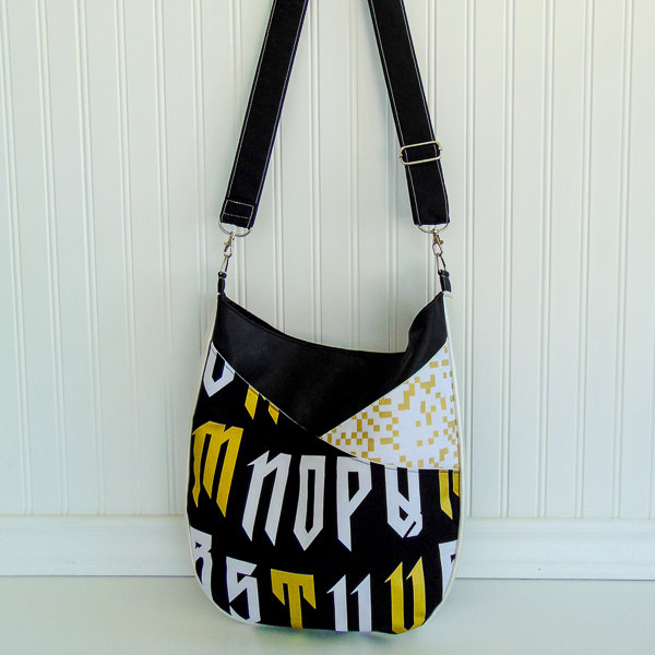 finished bag - S and S Tote - Adjustable Strap - Andrie Designs