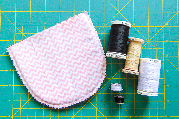 Black and White Thread for hidden seams - Andrie Designs