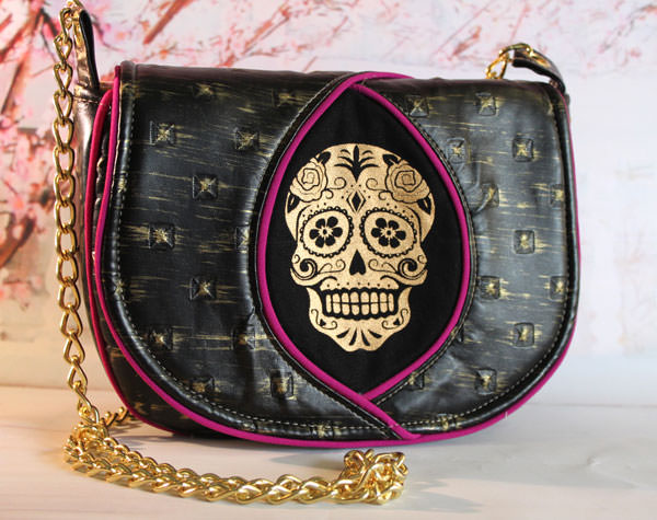 Gothic and gold Peekaboo Purse - Andrie Designs