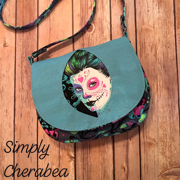 Tula Pink De La Luna was the feature of this Peekaboo Purse - Andrie Designs