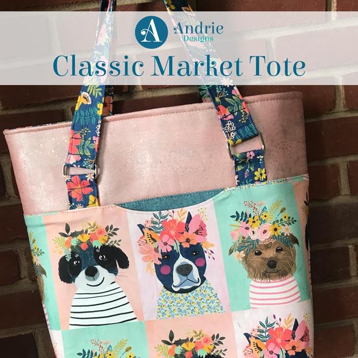 Classic Market Tote - Andrie Designs