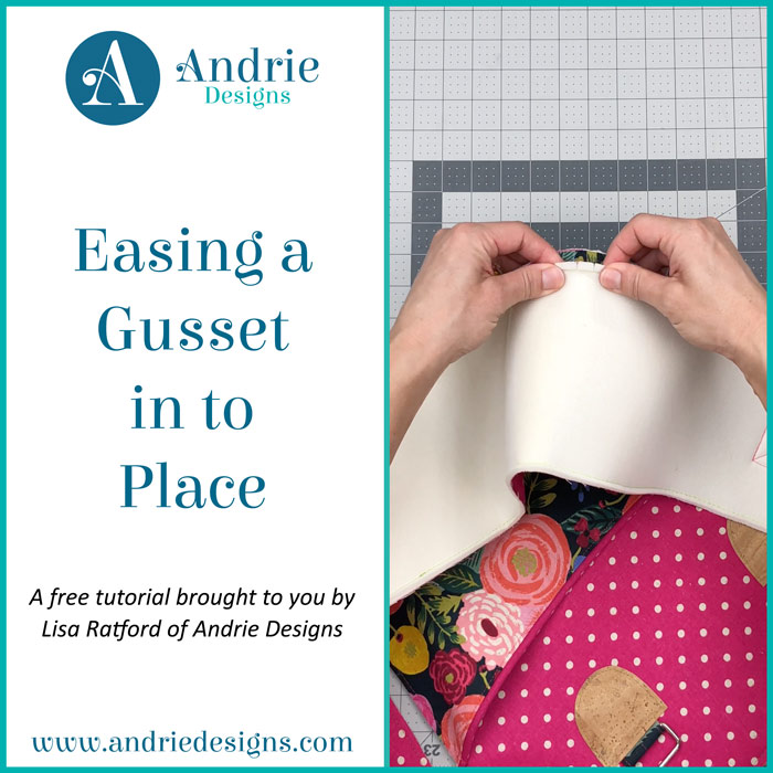 Easing a Gusset in to Place - Andrie Designs