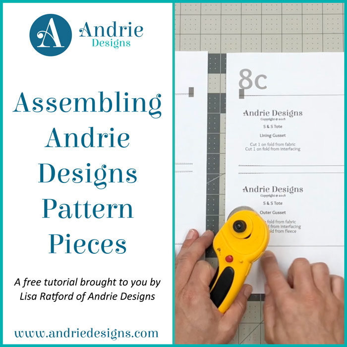 Assembling Andrie Designs Pattern Pieces - Andrie Designs