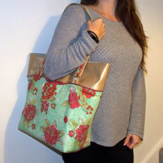 Classic Market Tote sits beautifully on your shoulder - Andrie Designs