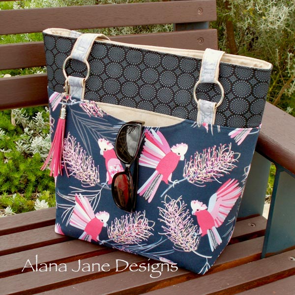 How gorgeous is this pink lorikeet Classic Market Tote! - Andrie Designs