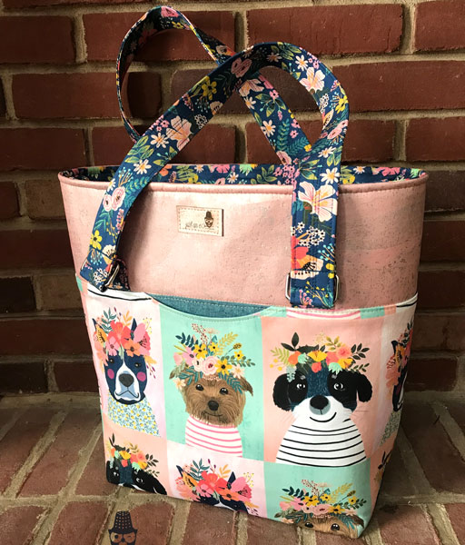 Another view of the gorgeous floral pooches Classic Market Tote - Andrie Designs