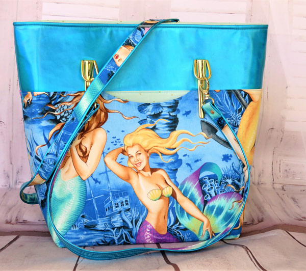 Check out this awesome mermaid-themed Classic Market Tote! - Andrie Designs