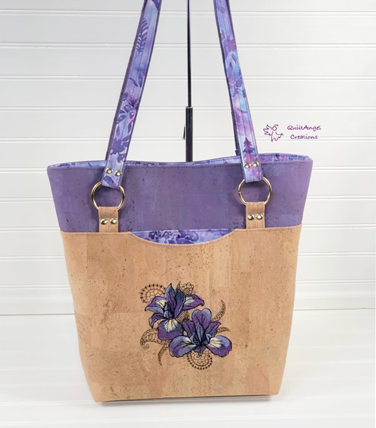 Lavender and cork for this Classic Market Tote - Andrie Designs