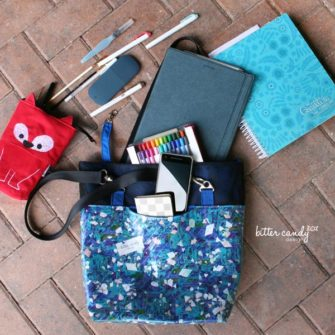 The Classic Market Tote holds plenty - Andrie Designs