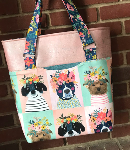 Floral pooches? Yes please! Classic Market Tote - Andrie Designs